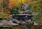 Grist Mill Posters - Autumn Perfection Poster by Tom Schwabel