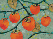 Autumn Persimmons Print by Jen Norton