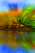 Burst Posters - Autumn Pixel Burst Poster by Diane E Berry