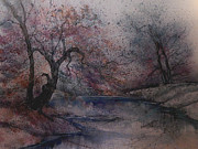 King James Prints - Autumn Pond  Print by Anna Sandhu Ray