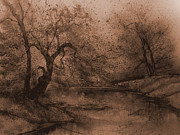 King James Prints - Autumn Pond III Print by Anna Sandhu Ray