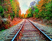Andres Ramos - Autumn Railroad Art...