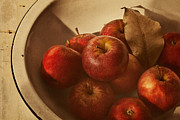 Wooden Bowl Photos - Autumn Red by Amy Weiss