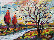 Ginette Callaway - Autumn Red and Bird Migration