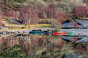 Green Canoe Prints - Autumn Reflections Print by Adrian Evans