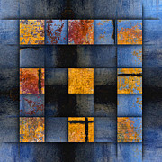 Geometrical Digital Art - Autumn Reflections by Carol Leigh