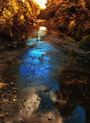 Autumn Reflections On The Tributary Print by Thomas Woolworth