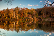 Stokes State Forest Prints - Autumn Reflections Print by Sara Hudock