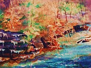 Reverie Paintings - Autumn Reverie by Ellen Levinson