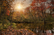 Blackstone River Prints - Autumn River Print by Robin-lee Vieira