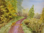 Pathway Paintings - Autumn Riverside Walk version2 by Martin Howard