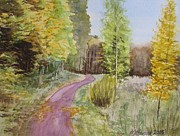 Most Popular Paintings - Autumn Riverside Walk version3 by Martin Howard