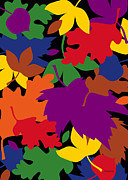 Fall Leaves Digital Art Prints - Autumn Print by Ron Magnes
