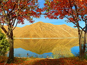 Fall Photographs Mixed Media Framed Prints - Autumn Season - Snake River - Hells Canyon Framed Print by Photography Moments - Sandi