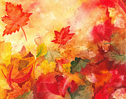 Covers Painting Prints - Autumn Serenade  Print by Irina Sztukowski