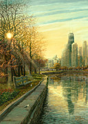 Willis Tower Digital Art - Autumn Serenity II by Doug Kreuger