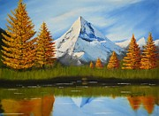 Snow-covered Landscape Painting Prints - Autumn Print by Shiva Kumar Devan