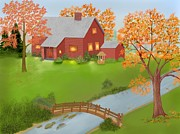 Zelma Hensel Prints - Autumn Solitude Print by Zelma Hensel
