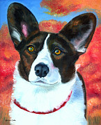 Puppies Paintings - Autumn Splendor by Lyn Cook
