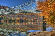 Sewickley . Framed Prints - Autumn splendor on the Ohio river  Framed Print by Jay Seeley