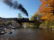 Upstate New York Posters - Autumn Steam Poster by Joshua House