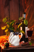 Wine Glass Posters - Autumn Still Life Poster by Christopher and Amanda Elwell