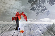 Misty. Digital Art Posters - Autumn still life Poster by Veikko Suikkanen