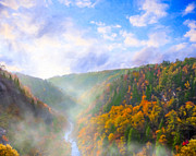 Tallulah Posters - Autumn Sunrise in Tallulah Gorge Poster by Mark E Tisdale