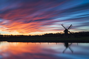 Stopper Photos - Autumn Sunset at Knip Molen by Dawn  Black