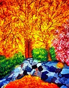 Joseph Frank Baraba Painting Prints - Autumn Sunset Print by Joseph Frank Baraba