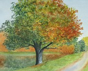 Sharon Farber - Autumn Tree by Pond
