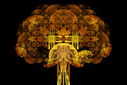 Fractal Designs Prints - Autumn Tree Print by Sandy Keeton