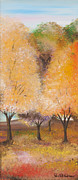 Print On Acrylic Prints - Autumn trees Print by Roni Ruth Palmer