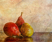 Pear Art Prints - Autumn Trio  II Print by Heidi Smith