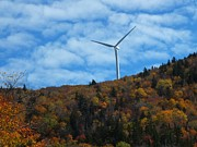 Photos Of Autumn Prints - Autumn Turbine Print by Gene Cyr