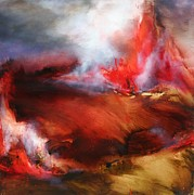 Wildfire Paintings - Autumn Unbound by Lissa Bockrath