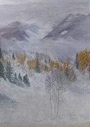 Constance Widen Metal Prints - Autumn Valley Mist Metal Print by Constance Widen
