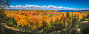 Door County Prints - Autumn Vistas of Nicolet Bay Print by Shutter Happens Photography