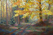 Robie Benve Prints - Autumn Walk Print by Robie Benve