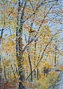 Autumn Walks Print by Lori Kallay