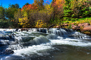 Cascades Prints - Autumn Waterfall Print by Matt Dobson