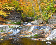 Autumn Waterfall Print by Robert Harmon