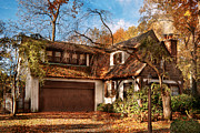 Charming Cottage Prints - Autumn - Westfield NJ - Lost in the woods Print by Mike Savad