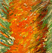Ceramic Glazes Posters - Autumn Wind Poster by Joan Reese