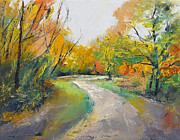 Automne Framed Prints - Autumn Woodland Path Framed Print by Michael Creese