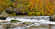 Gushing Water Framed Prints - Autumnal Panorama Framed Print by Robert Harmon