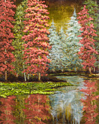 Vic Mastis Painting Metal Prints - Autumns Brilliance Metal Print by Vic  Mastis