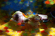 Water Bath Prints - Autumns Mosaic Print by Gwyn Newcombe
