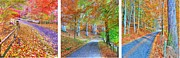 John Kelly Prints - Autumns Way Print by John Kelly