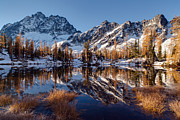 Alpine Lake Framed Prints - Autumns Winter Coat Framed Print by Mike Reid